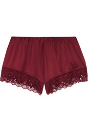 Luna lace-trimmed stretch-jersey pajama shorts
