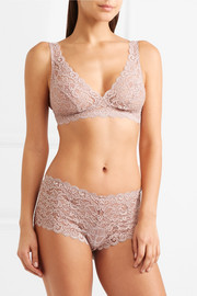 Moments stretch-lace soft-cup bra