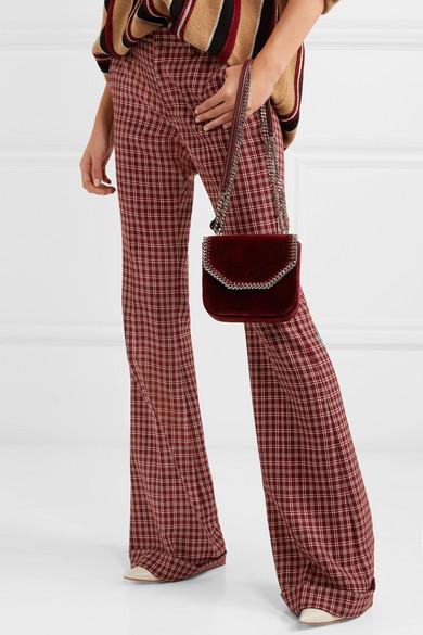 a5a9a65d126c Stella McCartney. The Falabella Box mini velvet shoulder bag. £473. Zoom In
