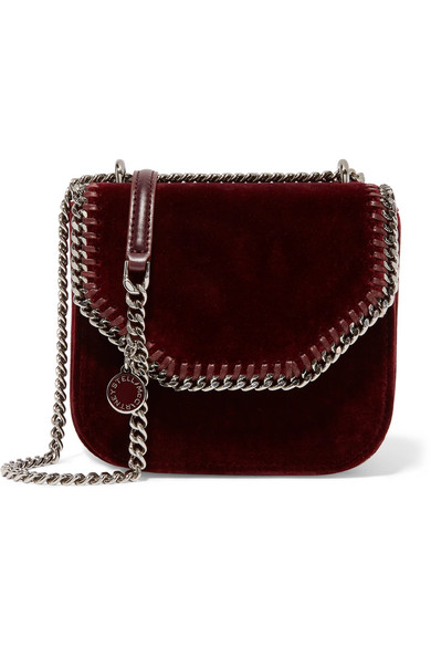 111ebec73854 Stella McCartney. The Falabella Box mini velvet shoulder bag