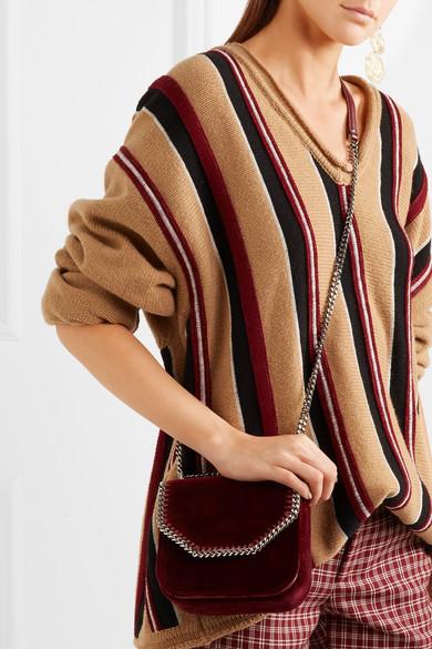 111ebec73854 Stella McCartney. The Falabella Box mini velvet shoulder bag