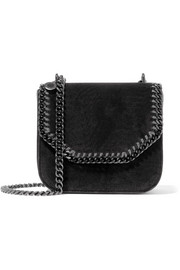 Stella McCartney The Falabella Box medium velvet shoulder bag