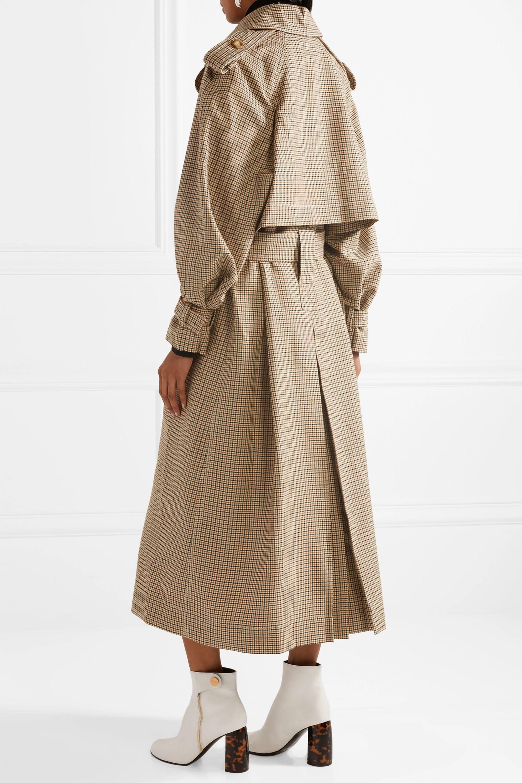 Stella McCartney Checked wool trench coat