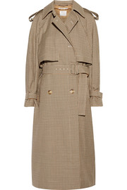 Stella McCartney Checked wool trench coat