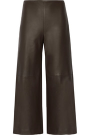 Adam Lippes Leather culottes