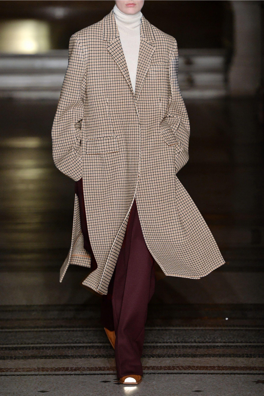 Stella McCartney 大廓形方格羊毛混纺外套