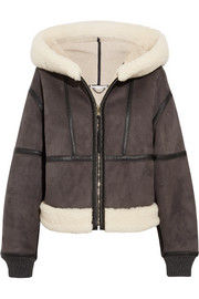 Stella McCartney Hooded faux shearling jacket