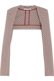 Stella McCartney Checked stretch-cotton bolero