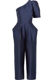 Stella McCartney One-shoulder duchesse-satin jumpsuit