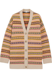Fair Isle wool cardigan