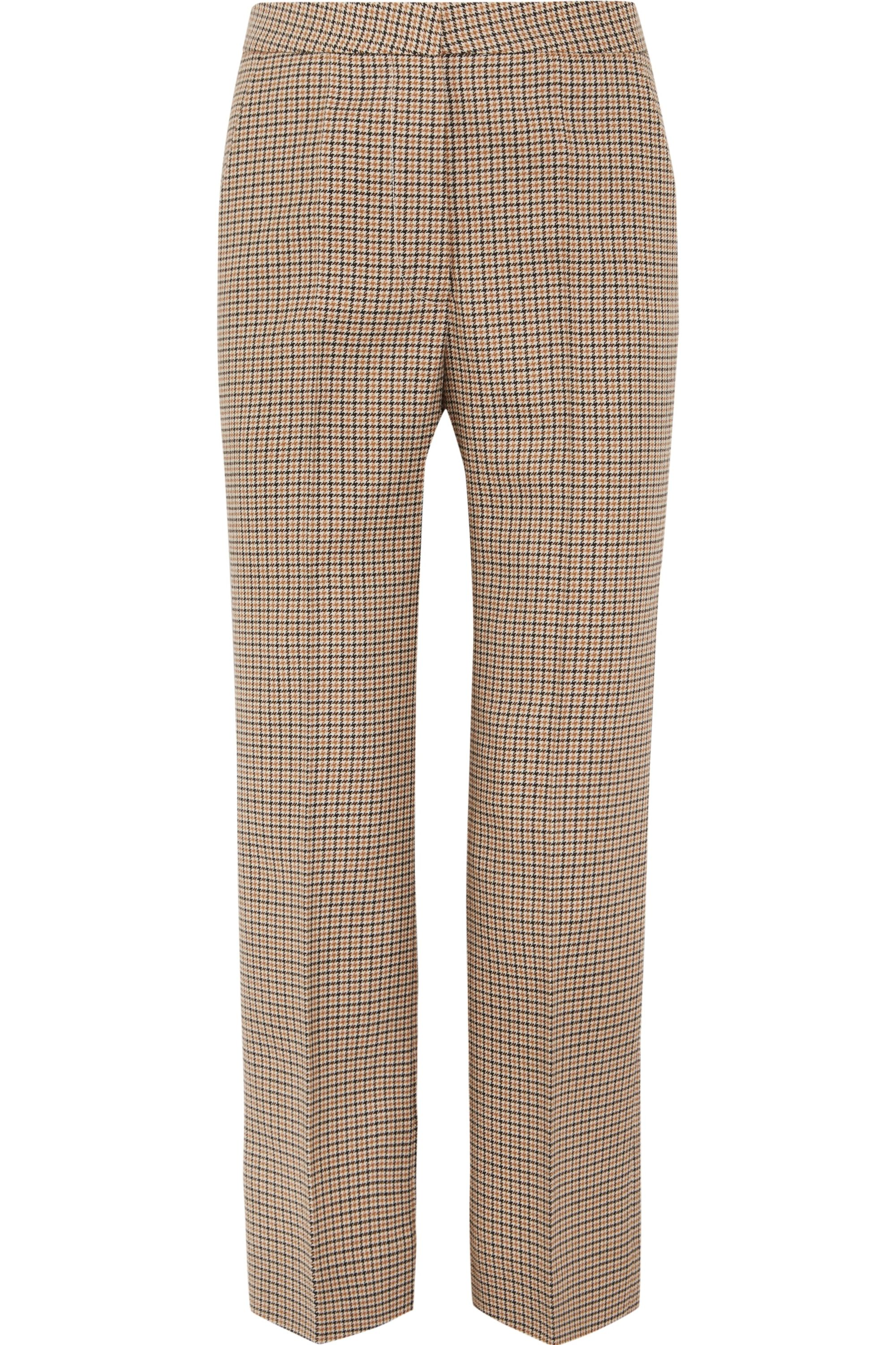 Stella McCartney Cropped checked wool flared pants
