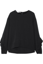 Stella McCartney Ruffle-trimmed cady top