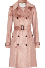 Cotton-blend corduroy trench coat