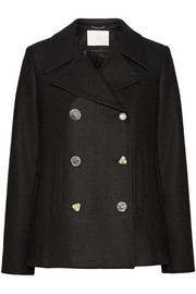 Adam Lippes Embellished wool-blend peacoat