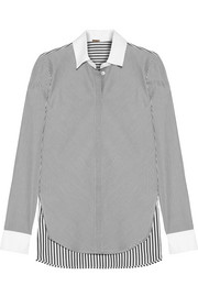 Adam Lippes Striped cotton-poplin shirt