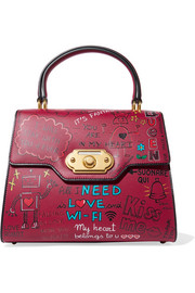 Dolce & Gabbana Welcome printed leather tote