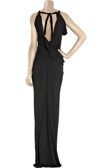 RM by Roland Mouret Open-back jersey maxi dress