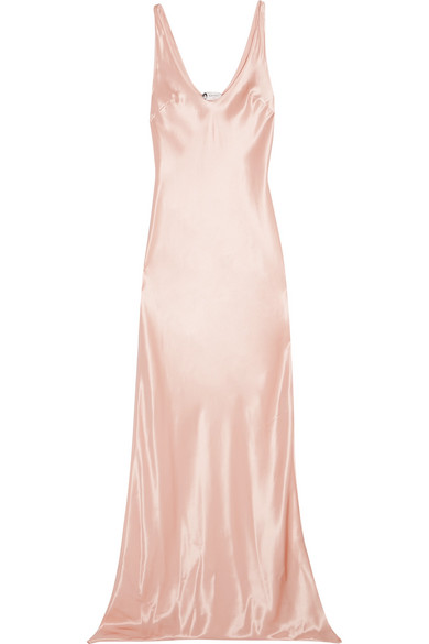Lanvin - Satin Gown - Pastel pink at NET-A-PORTER