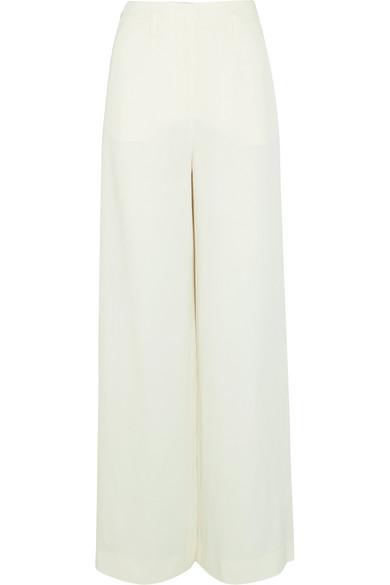 Lanvin - Crepe Wide-leg Pants - Ivory at NET-A-PORTER