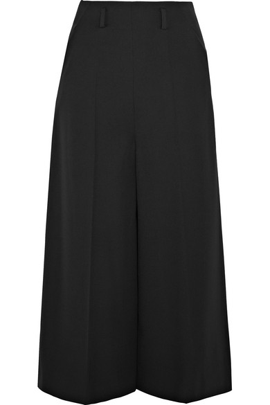 Lanvin - Wool-crepe Culottes - Black at NET-A-PORTER