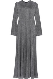 Dusk pleated Lurex dress
