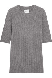 Freeway ribbed wool and cashmere-blend top