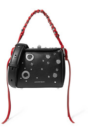 Alexander McQueen Box embellished leather shoulder bag