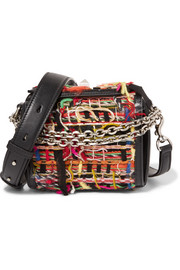 Alexander McQueen Box Bag 16 small fringed tweed shoulder bag