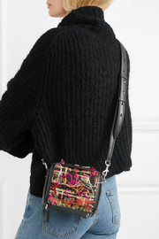 Box Bag 16 small fringed tweed shoulder bag