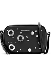 Alexander McQueen Eyelet-embellished leather camera bag