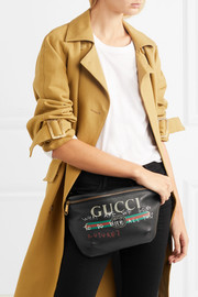 Gucci Printed textured-leather belt bag