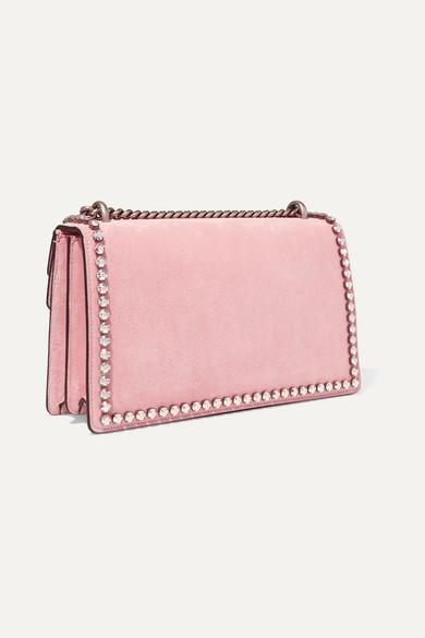 65775e2514f6 Gucci. Dionysus crystal-embellished suede shoulder bag