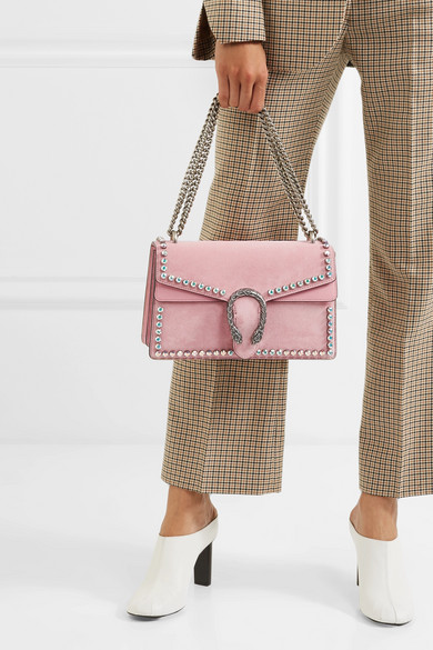 4ce22424e6cc Gucci. Dionysus crystal-embellished suede shoulder bag. €2