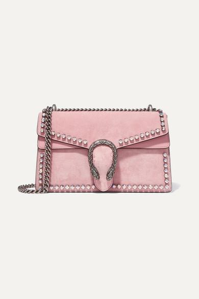ff1cacff0 Gucci | Dionysus crystal-embellished suede shoulder bag | NET-A ...