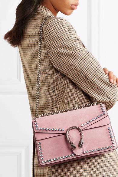 247515c7ddf4 Gucci | Dionysus crystal-embellished suede shoulder bag | NET-A ...