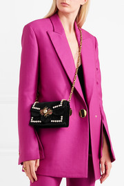 Gucci Broadway embellished velvet shoulder bag
