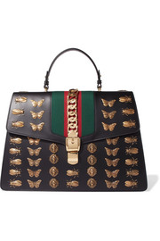 Sylvie large chain-embellished leather tote