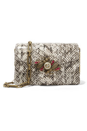 Gucci Broadway embellished watersnake shoulder bag