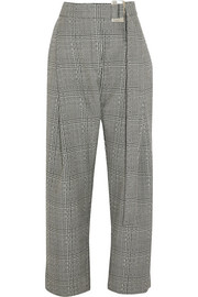 Kool Aid Prince of Wales checked wool straight-leg pants