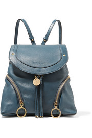 Olga medium textured-leather backpack