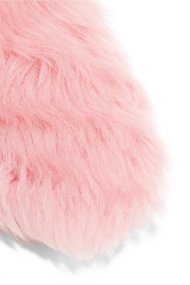 100% Original Günstiger Preis Gucci Princetown zweifarbige Slippers aus Shearling mit Horsebit-Detail Auslass Günstiger Preis Fälscht  Wo Zu Kaufen M6sdCK