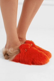 Princetown two-tone shearling slippers