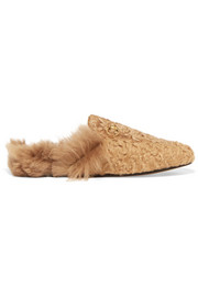Princetown horsebit-detailed shearling slippers