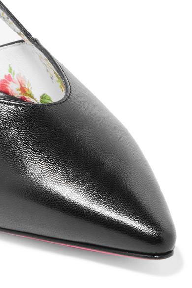 Spielraum Viele Arten Von Für Schön Gucci Unia verzierte Lederpumps Outlet Neuesten Kollektionen sPP652hwbI
