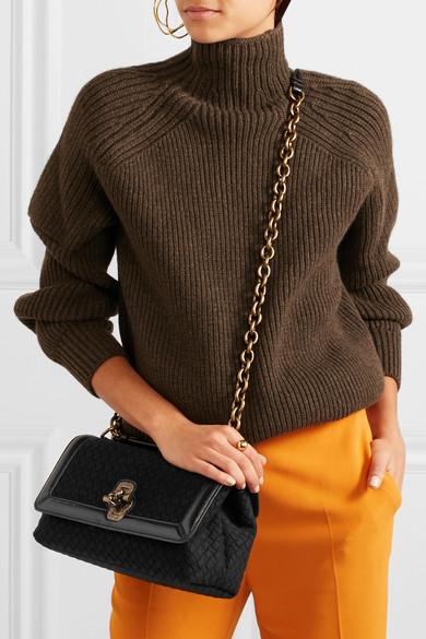 Bottega Veneta Olimpia Knot Schultertasche aus Intrecciato-Wolle mit Besatz aus Wasserschlangenleder Für Günstig Online Ebay Online 289LZQRb5k