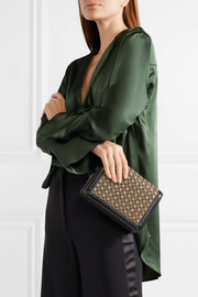 Bottega Veneta Montebello leather-trimmed metallic jacquard clutch