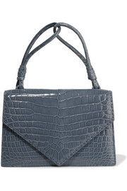 Bottega Veneta Piano glossed-crocodile tote