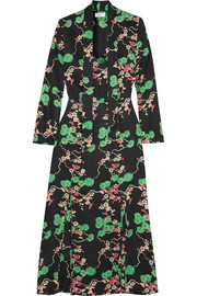 Stella printed silk-jacquard midi dress