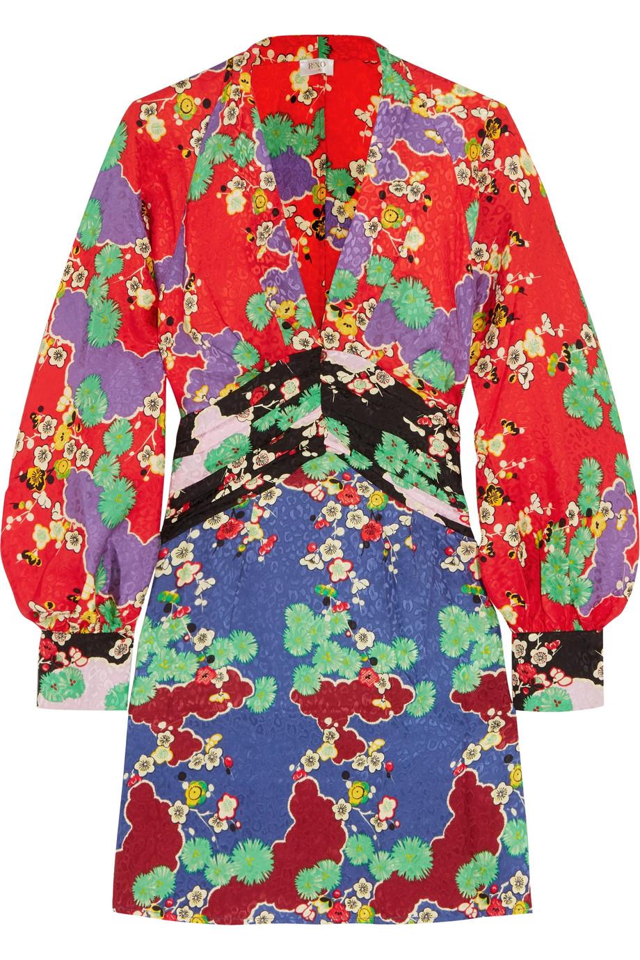 34af02b303f RIXO London | Alanna printed silk-jacquard mini dress | NET-A-PORTER