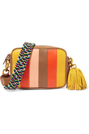 Clare V. Georgia Midi Sac striped leather camera bag